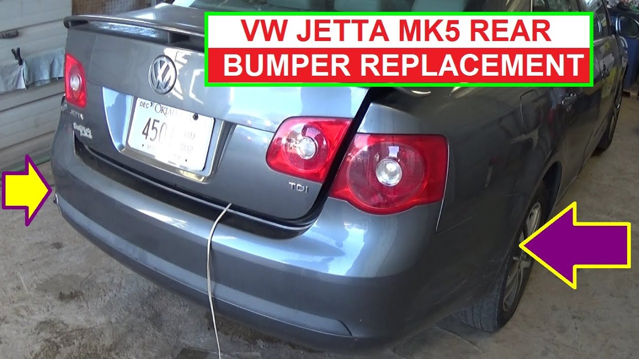 How To Remove And Replace Rear Bumper On Vw Jetta Mk5