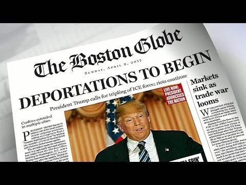 Boston Globe makes fake front page with Trump as president
