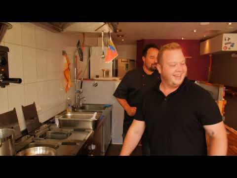 Blick in die Küche beim s´krüstsche in Bad Nauheim