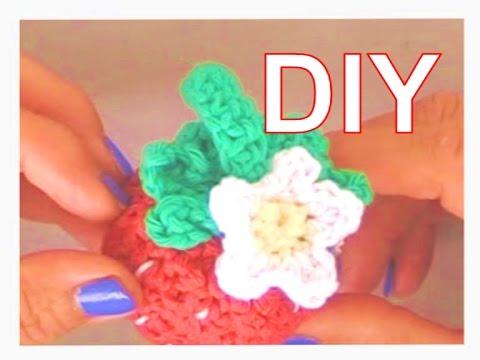 Kleine Süße Erdbeerblüte Blume Häkeln Diy Youtube