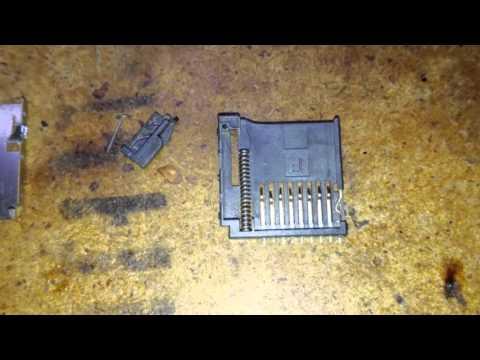 Ремонт, разборка и чистка картридера микро-сд.