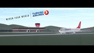 TURKISH AIRLINES | Isparta - Rome | Boeing 737-800 | Ground Crew | ROBLOX
