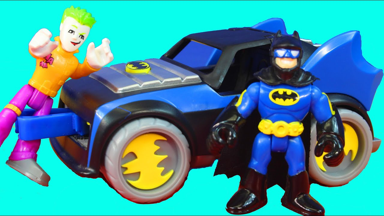 Imaginext Batman Tests Out His New Explosive Missile Proof