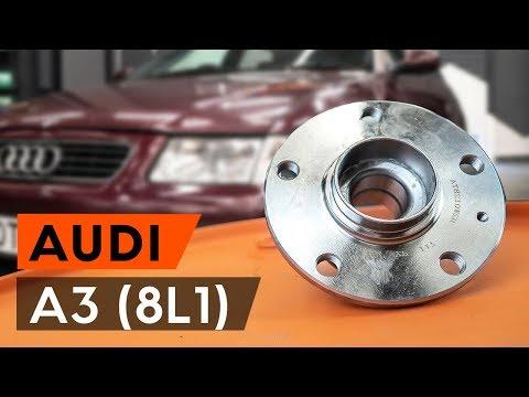Как заменить задний подшипник ступицы и ступицу колеса AUDI A3 1 (8L1) [ВИДЕОУРОК AUTODOC]