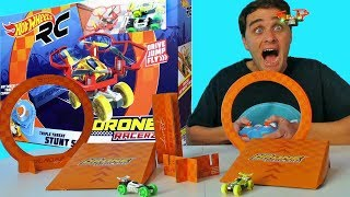 Hot Wheels Drone Racerz Triple Threat Stunt Set!  !    Toy Review    Konas2002