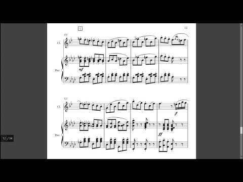 Olympia's Aria from Tales of Hoffman by Offenbach - Arranged for Clarinet and Piano