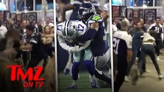 Brawl Breaks Out After Seahawks Vs  Cowboys Game! | TMZ TV