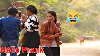 FUNNY SCARING HELLO Prank on CUTE GIRLS || PRANKS IN INDIA|| IN HINDI ||  MindlessLaunde Hello prank