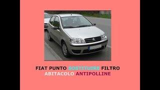 Tutorial come sostituire il filtro abitacolo climatizzatore antipolline nella Fiat Punto
