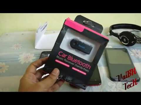 Wireless Bluetooth 3.0 Audio Receiver Car Kit   Car Bluetooth Audio Receiver AUX output