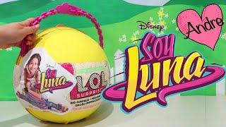 LOL Big Surprise DIY de Soy Luna | Muñecas y juguetes con Andre