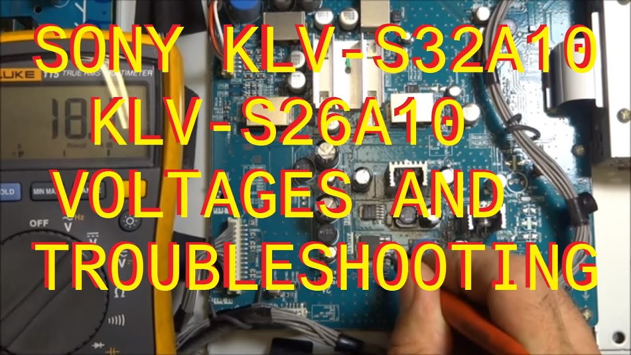 Klv S32a10 S26a10 Sony Troubleshooting And Voltages Youtube Series Circuit Premium