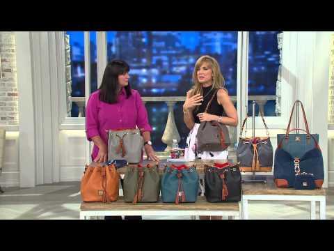 Dooney & Bourke Kendall Pebbled Leather Large Drawstring Bag with Antonella Nester