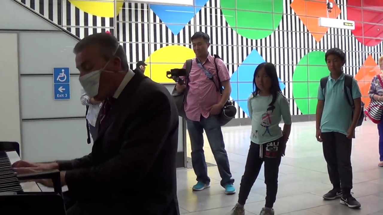 Masked Man Hijacks Station Piano