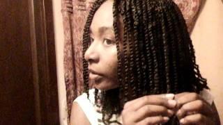 2 strand twist on Natural Hair using Bob Marley Kinky Hair Tutorial Part 2
