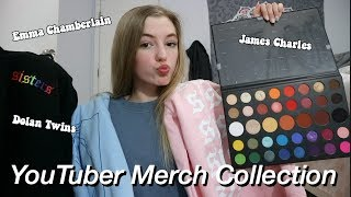 my youtuber merch collection 2019| Emma Chamberlain, Dolan Twins + More
