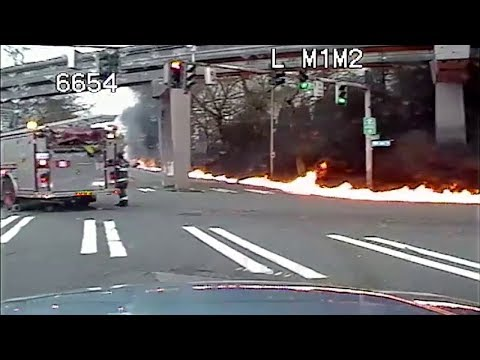 KOMO 4 News Helicopter Crash in Downtown Seattle (Video #3 - Crosstown Response)