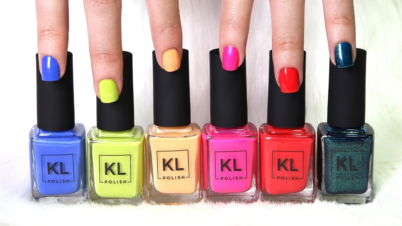 KL Polish Summer Collection LIVE SWATCHES + DUPES ?! || Lucykiins ...