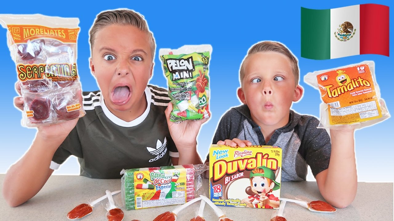Trying Mexican Candy Challenge Los Niños Prueban Dulces
