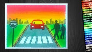 Road Safety Drawing Posters