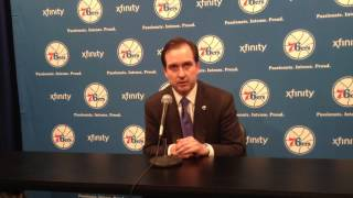 Sixers hinkie on draft night