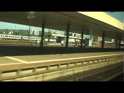 ICE train is on the way to Basel Badischer Station, Switzerland.