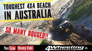 TOUGHEST 4x4 BEACH IN AUSTRALIA, so many bogged!