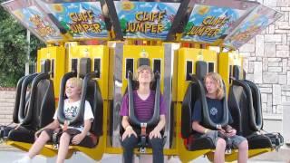 Funny Kid On Cliff Jumper HD Scandia Amusement Park