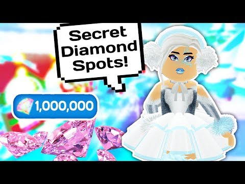 MY TOP SECRET DIAMOND SPOTS IN ROYALE HIGH SCHOOL 💎👑 // Robl