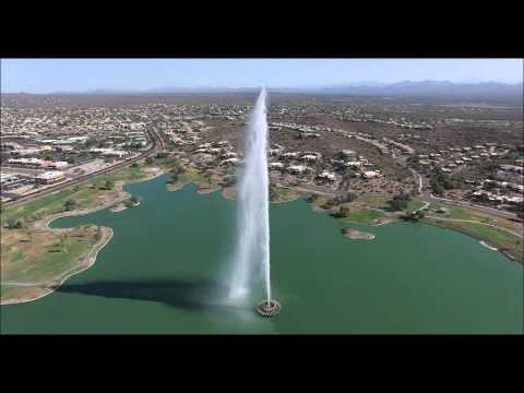 Fountain Hills Park from the air