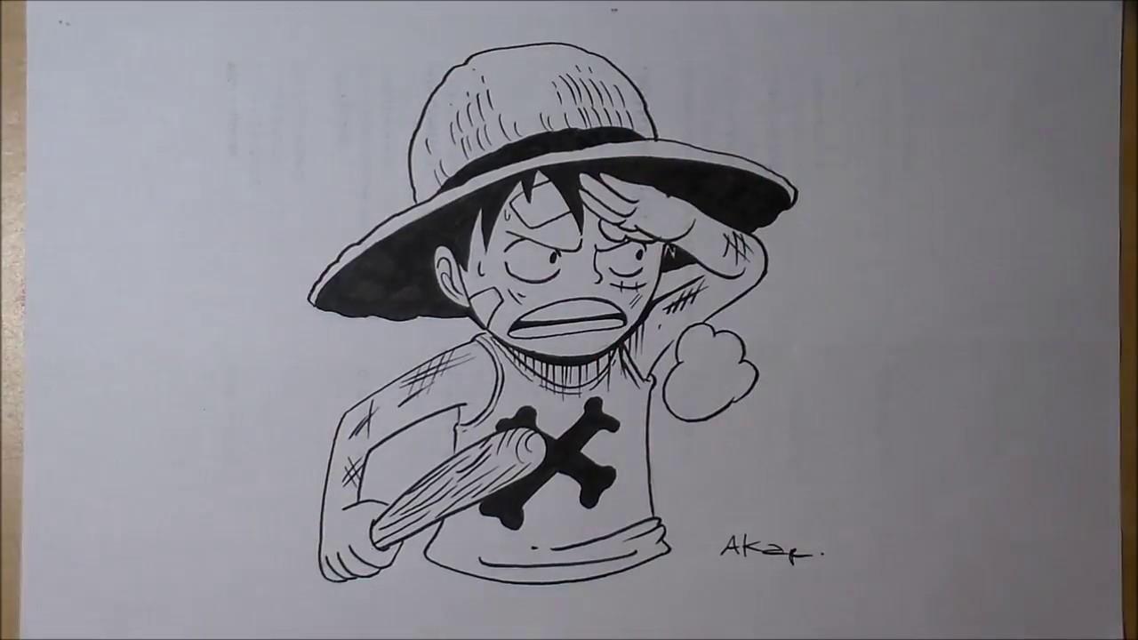 Speed Drawing Dessin Luffy Petit Manga One Piece Youtube