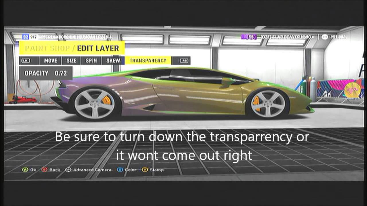Forza horizon 2 how to make a multi colored paint job youtube