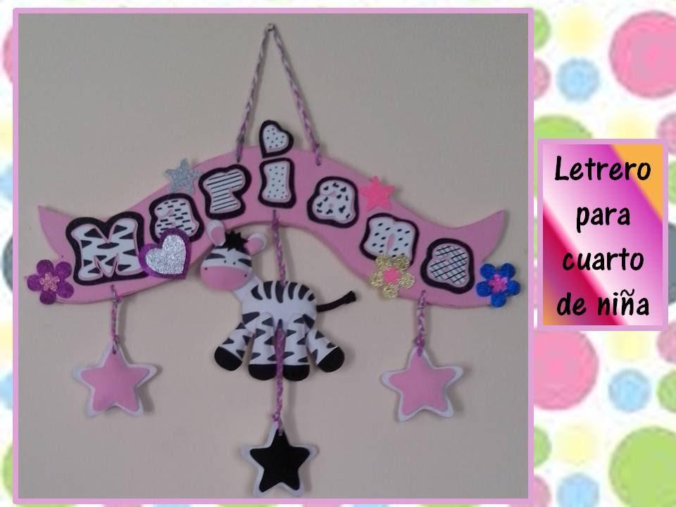 Letrero en foamy para cuarto de ni os creaciones for Cuartos decorados para jovenes