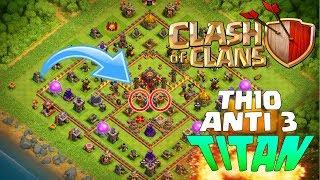 TH10 ¡ALDEA PARA SUBIDA DE COPAS! + REPETICION DEFENSA | Diseño de Aldeas | Clash of Clans