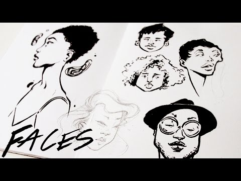 Afternoon Doodles ·  How I Draw Faces · SemiSkimmedMin