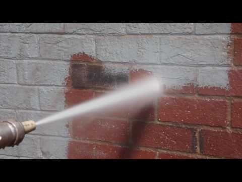 Typhoon Blaster Sand Blasting Pressure Washer Removes Paint From  Brick Building