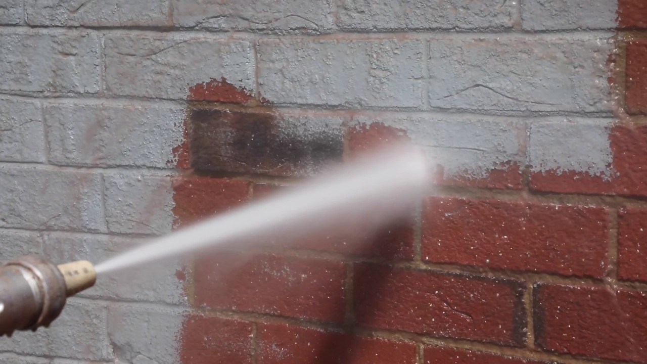 Typhoon Blaster Sand Blasting Pressure Washer Removes Paint From Brick  Building - YouTube