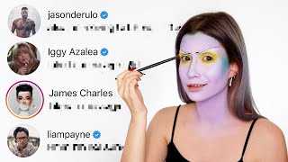 DMING CELEBS TO PICK MY HALLOWEEN MAKEUP