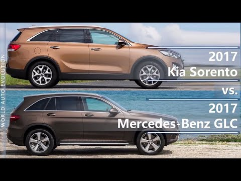 2017 Kia Sorento vs 2017 Mercedes-Benz GLC (technical comparison)