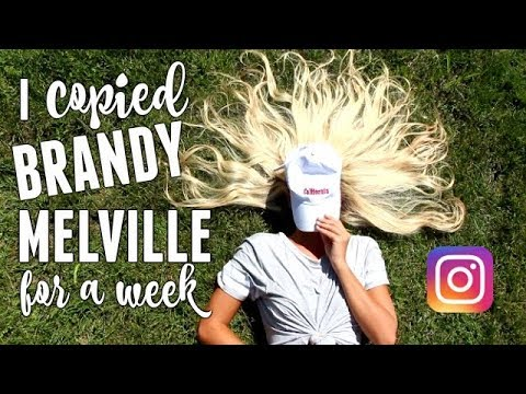 I COPIED BRANDY MELVILLE's INSTAGRAM FOR A WEEK!!  Instagram Picture Ideas! BRANDY MELVILLE