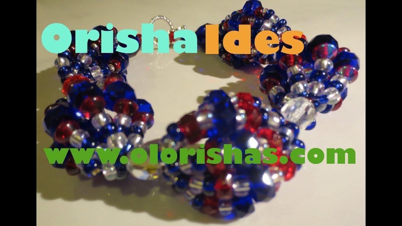Lukumi Orisha Beadwork Ide osha for Yemaya, Shango, Orunmila, Erinle,  Oshun and more , YouTube