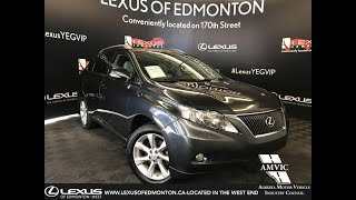 Used Grey 2010 Lexus RX 350 Touring Package Review - Calgary, Alberta