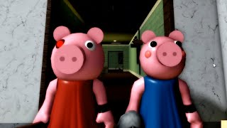 ROBLOX PIGGY & GEORGE TWINS JUMPSCARE - Roblox Piggy 2 Birthday Party