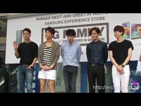(X)TV: 140914 Winner at Samsung Experience Store in SG