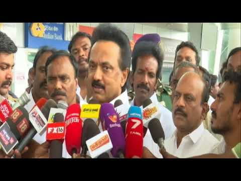 Edapady's government has no moral right or authority to celebrate one year in office - MK Stalin