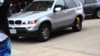 Woman Drives Boot off BMW at Bad Girls Club Audition In Houston (Original Video)