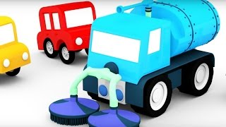 Lehrreicher Zeichentrickfilm - Die #4kleinenAutos - Wir bauen ein Reinigungsfahrzeug