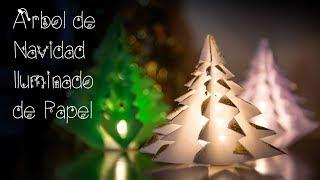 Decoracion Arbol de Navidad Iluminado de Papel Facilisimo Rapido y Economico