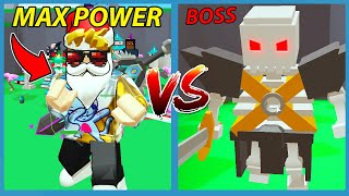 I Became The STRONGEST GOD to Fight the MAX SKELETON BOSS!  Roblox Gods of Glory