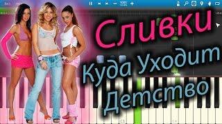 Сливки - Куда Уходит Детство (на пианино Synthesia)